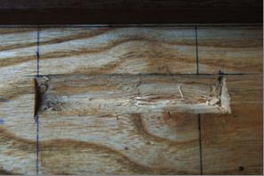 Boîte à gournable pour donner à la cheville une forme tronconique par passage du rabot